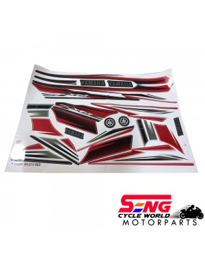 RXZ (13) BODY STICKER- RED/ BLUE