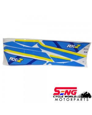 RXZ (3) BODY STICKER- BLUE