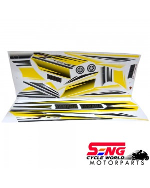 RXZ (13) BODY STICKER- YELLOW