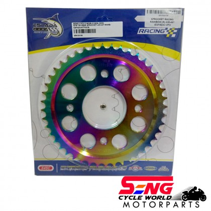 SYM VF3I 185 REAR SPROCKET-428-44T-RAINBOW-ESPADA