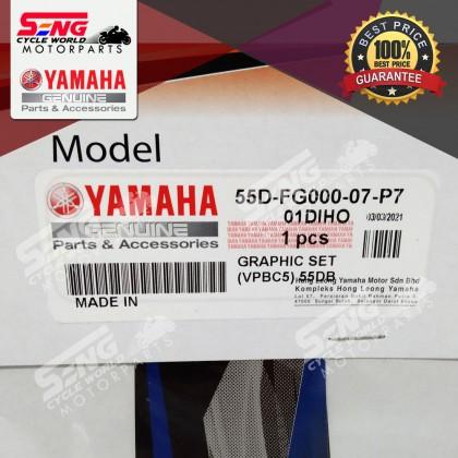 LC135 V7 BODY STICKER SET (55D-FG000-07-P7) VPBC5 BLUE - YAMAHA GENUINE ORIGINAL