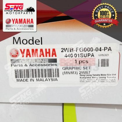 SRL115 FI BODY STICKER SET (2WB-FG000-04-PA) MNM3 MATT GREY 2021- YAMAHA GENUINE ORIGINAL